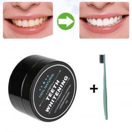 Proszek do wybielania zębów naturalny organiczny węgiel bambusowy pasta do zębów płytki nazębnej usuwanie kamienia nazębnego pla