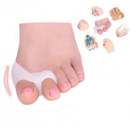 2 sztuk  1 para żel narzędzie do pielęgnacji stóp zespół cieśni kanału nadgarstka korektor kości duży ochraniacz palców u stóp