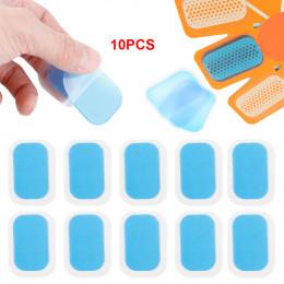 10 sztuk Replecament żel naklejki łatki podkładki silikonowe maty hydrożelowe dla bezprzewodowy inteligentny EMS mięśni brzucha