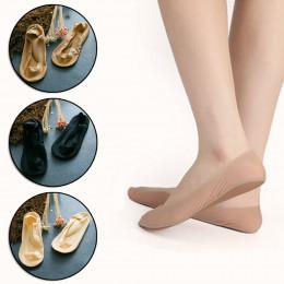 1 para 3D łuk masaż stóp opieka zdrowotna kobiety letnie skarpetki lodu jedwabne skarpetki płytkie usta żel krzemionkowy niewido
