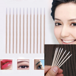 300 sztuk drewna wacik kosmetyki permanentny makijaż zdrowie medycyna ucho biżuteria czysta laska pąki porada drewna bawełniany