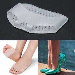 1 para żel przedniej części stopy śródstopia podkładki krzemu pół stoczni Othotics ulgę w bólu masaż Anti-slip poduszki przednie