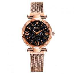 Luksusowe kobiety zegarki Magnetic gwiaździste niebo kobieta zegar zegarek kwarcowy zegarek mody panie zegarek na rękę reloj muj