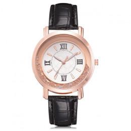 Nowy zegarek dla pań Rhinestone bransoletki na rękę kobiety moda zegarki damskie zegarki Alloy analogowe kwarcowy relojes @ F