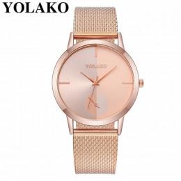 2019 Hot moda kobiety zegarek kwarcowy luksusowe z tworzywa sztucznego skóra analogowy zegarek na rękę zegarki kobieta zegar YOL