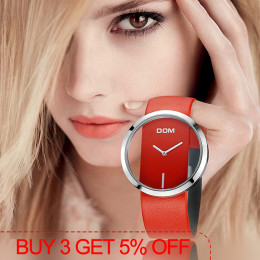 DOM oglądać kobiety luksusowej mody przypadkowi 30 m wodoodporny zegarek kwarcowy zegarki prawdziwy skórzany pasek panie eleganc
