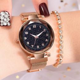 Luksusowe Luminous kobiet zegarki Starry Sky magnetyczne kobiet zegarek wodoodporny Rhinestone zegar relogio feminino montre fem