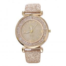 2019 najlepiej sprzedający się zegarek mody kobiet zegarki luksusowy z kryształkami ze stali nierdzewnej kwarcowy zegarek na ręk