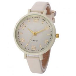 Moda wysokiej jakości damski zegarek kobiety dorywczo warcaby Faux skórzany zegarek kwarcowy zegarki analogowe zegarek na rękę D