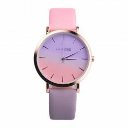 2018 mody zegarek Retro Rainbow projekt kobiety sukienka zegarek skórzane zegarki kwarcowe prezent dla miłośników Montre Relogio