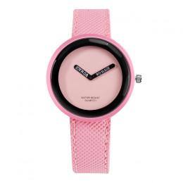 Gorąca sprzedaż moda damska zegarki skórzany zegarek dla pań kobiet zegarki młodych zegarek dziewczęcy prosty zegar reloj mujer