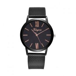 Różowe złoto srebro siatki ze stali nierdzewnej Dail zegarki kobiety Top marka luksusowe zegar panie zegarek na rękę Relogio Fem