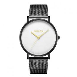 Top marka kobiet zegarki luksusowe kwarcowy zegarek na co dzień kobiety ze stali nierdzewnej siateczkowy pasek zegarek z ultra c