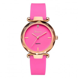 Gorący bubel najnowszy luksusowe marki zegarek Geneva kobiet zegarki krzemionkowy sukienka panie zegarek kwarcowy zegarek na ręk