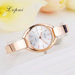 Lvpai marki luksusowe kobiety bransoletki z zegarkiem mody kobiety ubierają zegarek panie róży złocisty zegarek kwarcowy sportow
