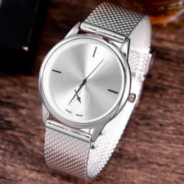 Moda pasa stopu siatki zegarki Unisex kobiety zegarki Casual para zegarek kwarcowy Relogio Feminino Saat zegarki dla kobiet
