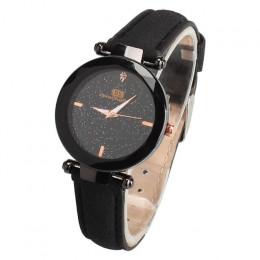 Wykwintne zegarek dla pań Starry Sky kobiet skórzany zegarek kwarcowy zegarek na rękę eleganckie kobiety zegarki bransoleta zega