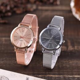 Vansvar Casual zegarek kwarcowy pasek ze stali nierdzewnej pasek na rękę zegarek analogowy zegarek na rękę kobieta zegarek 2019