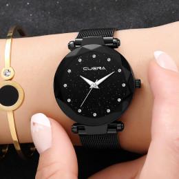 Kobiety Starry Sky zegarek silikonowy bransoletka analogowy zegarek kwarcowy panie biznesu zegarek na rękę 2019 trendy w modzie