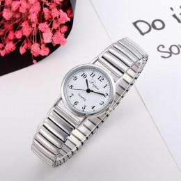 Zegarki damskie 2018 nowa moda srebrny pary ze stali nierdzewnej zegarek kwarcowy zegarek okrągły kobiety sukienka zegarki Montr