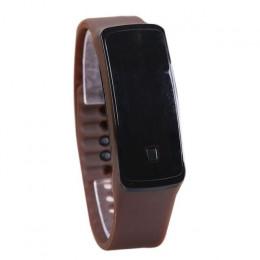 Sport LED zegarek cyfrowy gumy silikonowej ekran bransoletki z zegarkiem cukierki kolor moda kobiety mężczyźni zegarek wodoodpor