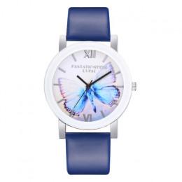 LVPAI wysokiej jakości piękne moda kobiety bransoletka zegarek motyl nadruk na co dzień okrągły analogowy zegarek kwarcowy kobi