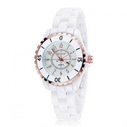 Zegarek dla pań SKONE Top Brand New Fashion kobiety analogowy zegarek kwarcowy kobiet ceramiczne zegarki na rękę kobiety zegar R