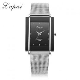 Moda kobiet zegarki Rhinestone romantyczny pas siatki zegarek na rękę ze stali nierdzewnej srebrny zegarek dla pań montre femme