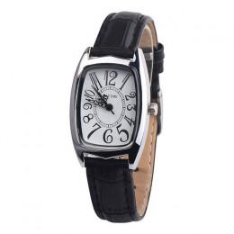 Zegarek kwarcowy kobiety zegar panie zegarek plac skórzany pasek prostokąt dorywczo moda damska sukienka montre carre femme 4KK