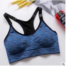 Gorąco sprzedają Fitness biustonosz sportowy kobiet biustonosz do biegania i jogi Push Up biustonosz sportowy Top sportowe kamiz