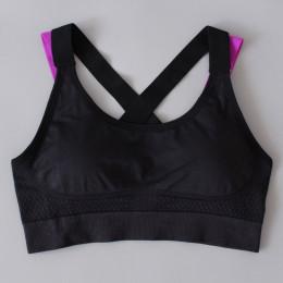 Sexy biustonosz sportowy Top dla kobiet Fitness Push Up krzyż paski jogi do biegania siłownia Femme Active Wear bielizna z wypeł
