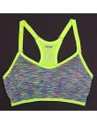 Kobiety biustonosz sportowy do ćwiczenia jogi do biegania siłownia regulowane ramiączka spaghetti wyściełany Top bez szwu Top sp