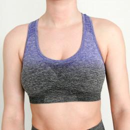 Nepoagym kobiety bez szwu Ombre biustonosz seksowny biustonosz do jogi biustonosz sportowy dziewczyny siłownia siłownia szpilki