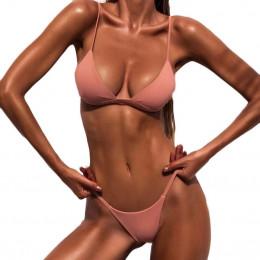 Damski strój kąpielowy 2019 kobiet push-up biustonosz usztywniany push-up bikini na plażę zestaw strój kąpielowy strój kąpielowy
