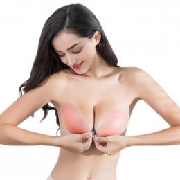ECMLN biustonosz silikonowy lep samoprzylepny na żel Push Up niewidoczne biustonosze bez ramiączek z odkrytymi plecami kobiet be