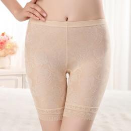HW50 kobiety plus rozmiar XL-4XL koronkowe krótkie spodnie bielizna bokserki damskie wygodne majtki ropa wnętrze femenina