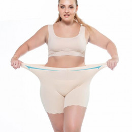 Kobiety szorty ochronne spodnie miękkie i wygodne bawełniane bokserki bez szwu majtki Plus duży rozmiar wysokiej talii dziewczyn