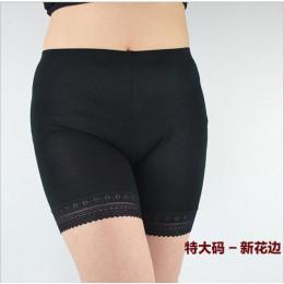 Maksymalne obciążenie 150 KG Plus rozmiar wysoka elastyczna połysk spodnie, przeciw odparzeniom nogi dla większych spodnie krótk