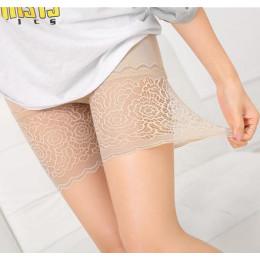 Lato w stylu panie bokserki krótkie bezpieczne spodnie bambusa szorty kalesony z koronki Plus duże rozmiary damskie bielizna 1 s