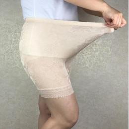 Maksymalne obciążenie 120 KG Plus rozmiar wysokiej elastyczny żakardowy splot włosów zamknięcia koronki spodnie, przeciw odparze