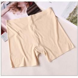 Lato bez szwu bezpieczeństwa krótkie spodnie jedwabne kobiety pod spódnica fajne spodenki oddychające krótkie rajstopy wygodne m