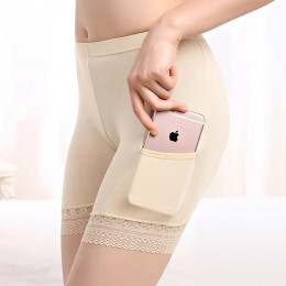 With pocket modal underwear, women's safety pants, lace three pants