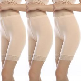 3 sztuk/partia miękkie i wygodne modal materiał bokserki bezpieczeństwa spodnie dla kobiet majtki duży rozmiar bielizna damska w