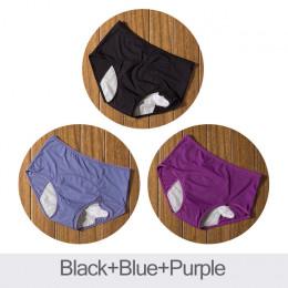 DULASI 3 sztuk wyciek dowód majtki menstruacyjne fizjologiczne spodnie kobiety bielizna okresu i bawełniane wodoodporna majtki D