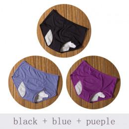 3 sztuk/zestaw majtki menstruacyjne fizjologiczne spodnie wyciek dowód kobiety bielizna okresu i bawełniane oddychające majtki w