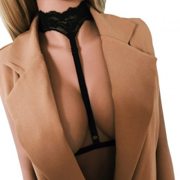 Feitong kobiet seksowna bielizna elastyczna gorset panie koronki Hollow Strappy biustonosz gorset Sexy Gothic catsuit topy