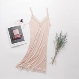 Jedwabiu luźne V kołnierz koronki stanik bielizna nocna dla kobiet Sexy jedwabne piżamy z dekoltem w kształcie litery V piżamy b