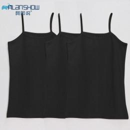 ALANSHOW kobiet 3 sztuk/partia damskie tank topy dla kobiet bawełniane kamizelki i tank kobiety kamizelka kobiet kamizelka dla d