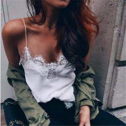 2019 kobiet koronki seksowna kamizelka moda kamizelka bawełniana koszulka z krótkim rękawem, bez rękawów, z wygodne na co dzień
