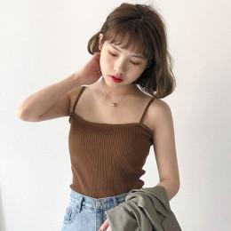 8 kolory Mihoshop Ulzzang koreański Korea kobiety moda odzież lato na co dzień Preppy podstawowe czysty Camisole